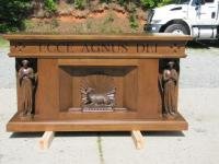 california episcopal church new carved wood altar and ambo from king richards workshops and designs - Wooden Altar And Home Design