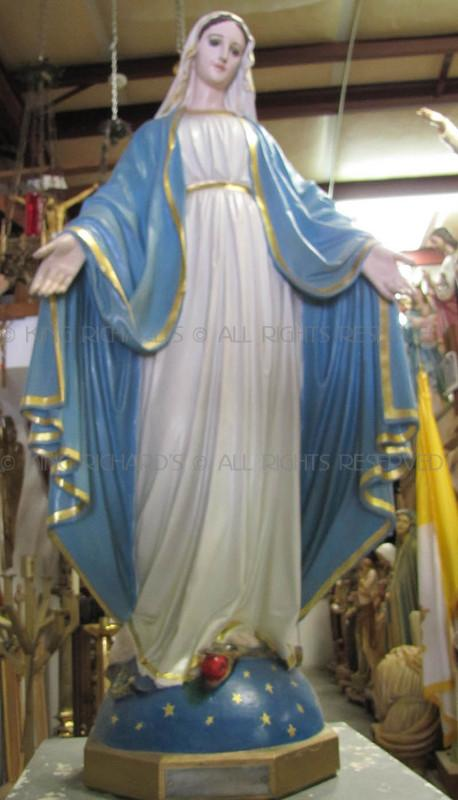 Mary Our Lady Of Grace Vintage Plaster Statue Of Our