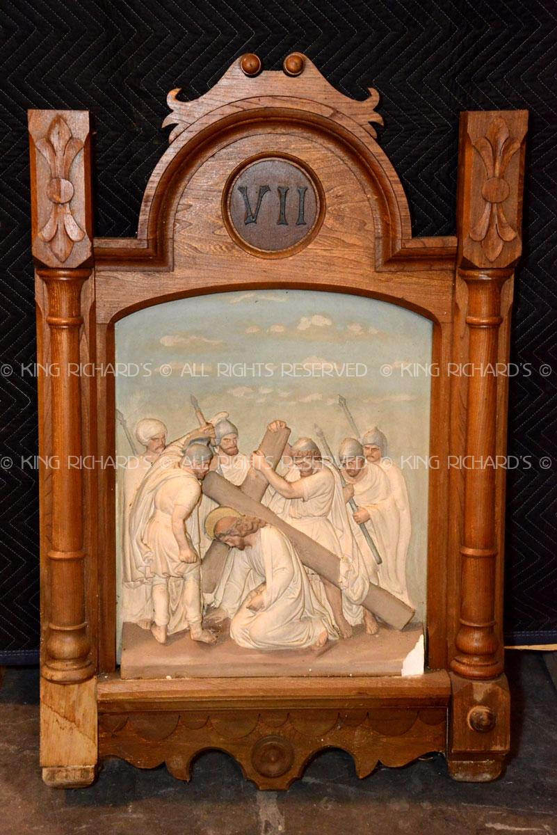 Antique Stations Of The Cross Antique Plaster And Wood