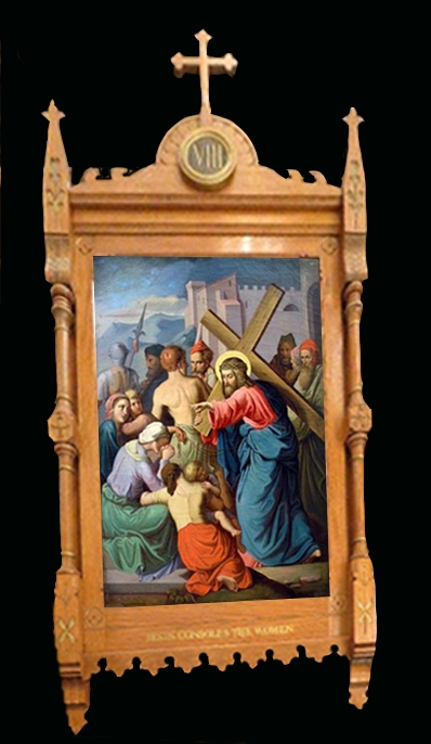 Antique Stations Of The Cross Large Beautiful Set Of Oil