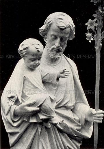 St Joseph And Child Jesus Life Size Marble Statue Of