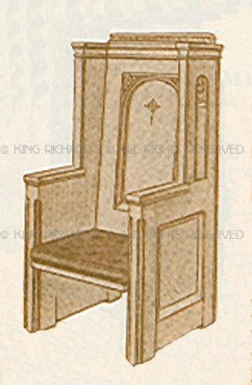 Images For New Hand Made Wood Bishopu0027s Chair